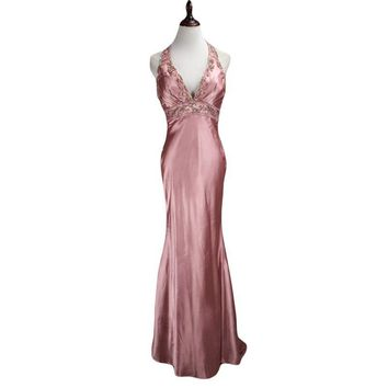 Sexy Backless Mermaid Halter Diamond Rhinestone Evening Dresses 2016 Fashion Formal Long Party Prom Gowns robe de soiree TE249