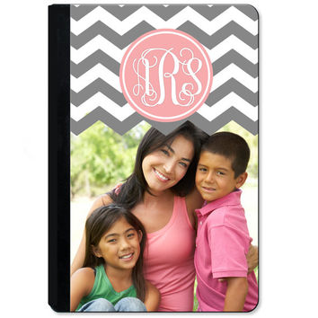 Mother's Day Gift - Monogrammed Personalized iPad Case Cover - iPad Case  2, 3, 4, Air, Mini - Chevron Photo Picture Custom