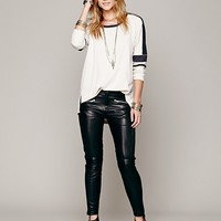 Free People Yasi Leather Trouser
