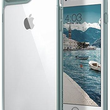 iPhone 8 Plus Case, / iPhone 7 Plus Case Caseology [Waterfall Series] Slim Clear Transparent Protective Air Space Technology for Apple iPhone 7 Plus (2016) / iPhone 8 Plus (2017) - Mint Green