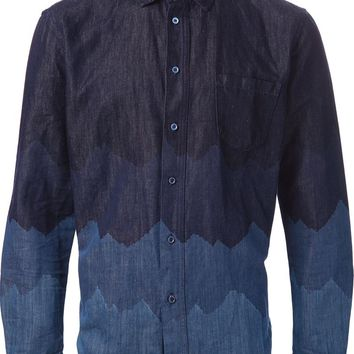 Levi's: Made & Crafted zig zag pattern denim shirt