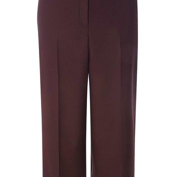 Port Split Side Wide Crop Trousers | Dorothyperkins