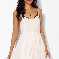 Pins And Needles Lace Godet Skater Dress - Urban Outfitters