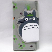 Totoro: Brown Totoro Clasp and Clutch Wallet