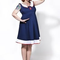 Rockabilly maternity wear/ Sailor mommy by TicciRockabilly on Etsy