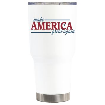 Make America Great Again on White 30 oz Tumbler