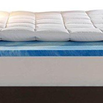 Sleep Innovations 4-Inch Dual Layer King Mattress Topper