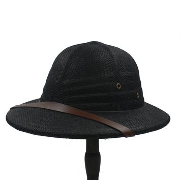 f34ef728 Novelty Summer Men Straw Helmet Pith Sun Hats For Gentleman Viet