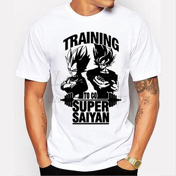 2019 Super Saiyan Design Men's T shirt Dragon Ball Goku Z Vegeta Printed Tees Anime Tops