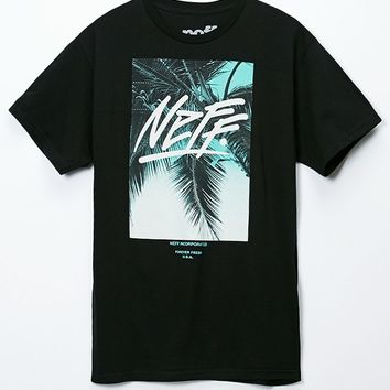 Neff Forever Fresh Palm T-Shirt - Mens Tee - Black