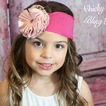 Soft Delicate Cotton Flower Headband