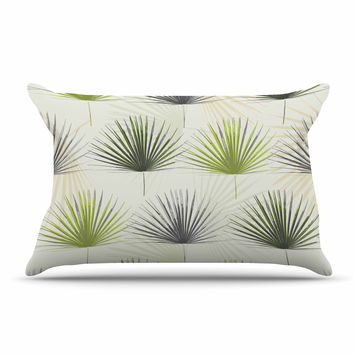 "Julia Grifol ""My Holidays Time"" Green Pillow Case"