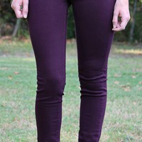 Legends of Fall Maroon Skinny Jeans