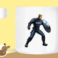 Captain America Captain Steve Rogers High Res  unique coffee mug