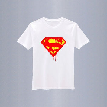 Superman T-shirt Loose Tshirt Screen Print Tshirt for Mens Boys Girls Womens Ladies = 1945941060