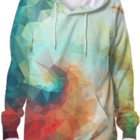 Enchanting Colorful Pattern Geometric Abstract Cool Geometry Designer Hoodie created by all-over-print-t-shirts | Print All Over Me