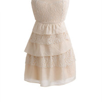 Mixed Lace 5 Tier Dress