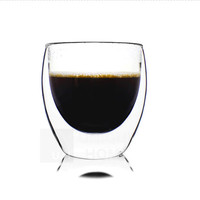 Handmade Gift Double Wall Glass Coffee Tumbler Cup 200ml 6.8oz  - Azzinoth Unihom
