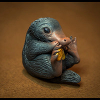 NIFFLER Made to Order from Fantastic Beasts | Miniature Polymer Clay Sculpture | Harry Potter Universe, Gift for Geeks, Wizards and Witches