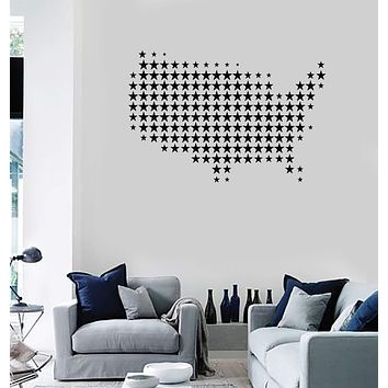 Vinyl Decal Wall Sticker United States American Flag Patriots House Decor (g092)