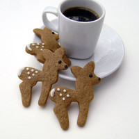 Gingerbread Deer Cookies - Christmas