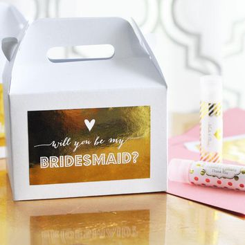 Bridesmaid & Maid of Honor Question Boxes (set of 8)