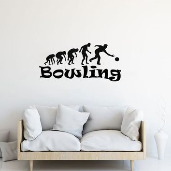 Family Friends party Board game STIZZY Wall Decal Bowling Sport Wall Sticker Creative Removable Logo Design Boys Bedroom Interior High Quality Home Decor A796 AT_41_3