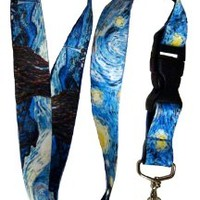 Buttonsmith® Van Gogh Starry Night Premium Lanyard
