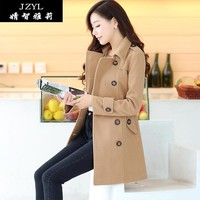 2015 Real Rushed Casacos Blusa De Frio The New Jzyl2015 Models Will Fall And Winter Clothes Women's Coat Female Long Woolen 0920