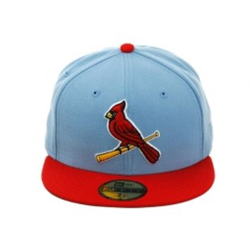 New Era 2Tone St Louis Cardinals Alternate Fitted Hat - Light Blue, Red, White