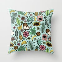 Tropical Fiesta Throw Pillow by Tangerine-Tane