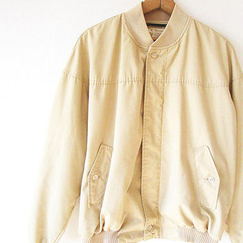 Vintage 50's/60's GIMBELS Parkleigh Actionback Camel MEMBERS ONLY Style Lightweight Jacket Sz L