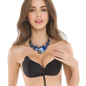 Women Three Quarters Cup Wire Free Push Up Bra 0940-24