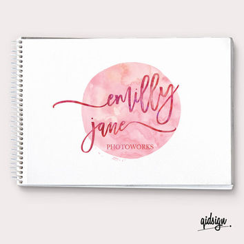 Premade Logo, Watercolor Logo, Calligraphy Logo, Photography, Boutique, Branding, Make up logo