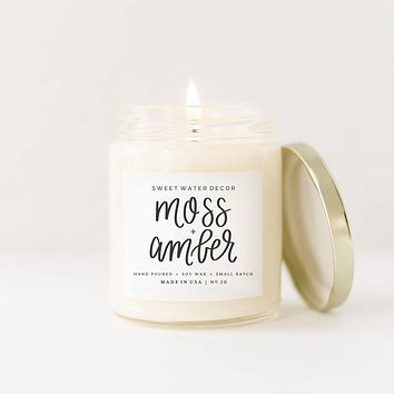 Moss + Amber Soy Candle