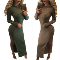 New long-sleeved sexy dress