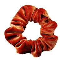 Scrunchies Rust Velvet Ponytail Holder (Free Shipping) Hair Accessories Made in USA