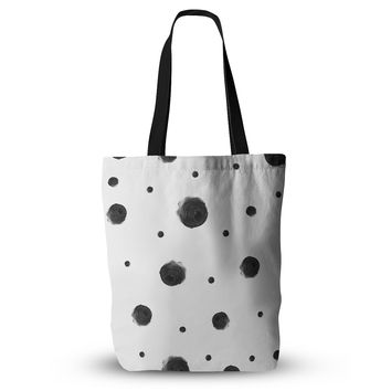 "Chelsea Victoria ""Black Dots"" Pattern Abstract Everything Tote Bag"