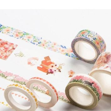 Infeel Pink Girl washi tape DIY decorative scrapbooking planner masking label sticker stationery school supplies