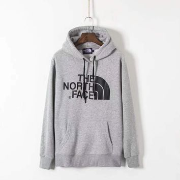 THE NORTH FACE Men Fashion Splicing Print Long Sleeve Hoodie Pullover Sweater G-ZDL-STPFYF