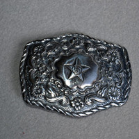 belt buckle Silver Buckle with Star