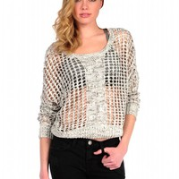 Pink Mascara Michy Netted Sweater