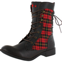 Tigerbear Republik Women's Bang Bang Miltiary Combat Boots Booties