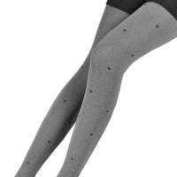 LOCOMO Women Heart Pattern Hosiery Tight Opaque FFT002s02 (S to M) Grey