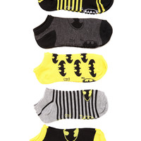 DC Comics Batman No-Show Socks 5 Pack