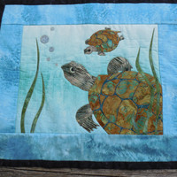Wall Hanging, Sea Turtles, Turtle Family, Handmade, Quited Wall Hanging