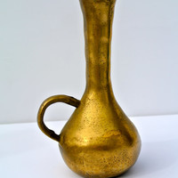 Hand Hammered Brass Vase