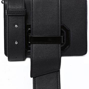 Buckle Cross Body Bag in Black