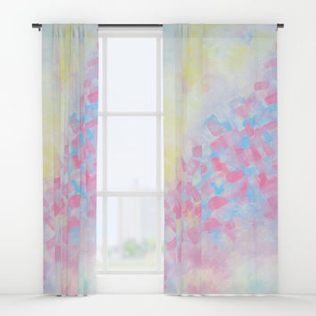 Improvisation 49 Window Curtains by ViviGonzalezArt
