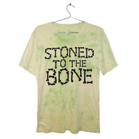 Stoned to the Bone Grunge Tie Dye T-Shirt UNISEX Sizes S, M, L, XL